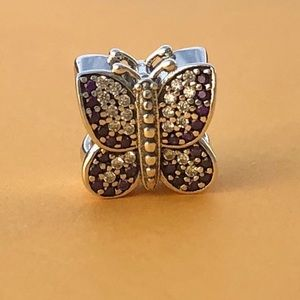 Pandora Sparkling Butterfly Charm